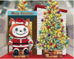 「そうにゃん」とクリスマスツリーのフォトスポット